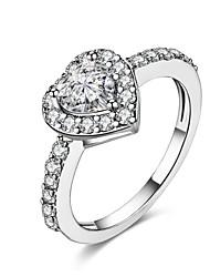 preiswerte -Damen Ring Kubikzirkonia Personalisiert Geometrisch Einzigartiges Design Klassisch Retro Strass Böhmische Grundlegend Herz Natur