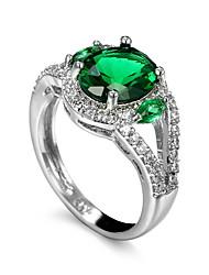 preiswerte -Herrn Ring Synthetischer Smaragd Einzigartiges Design Modisch Euramerican Zirkon Smaragdfarben Aleación Anderen Schmuck Hochzeit