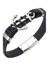 preiswerte -Herrn Lederarmbänder Magnetisches Armband - Leder Natur, Modisch Armbänder Schwarz Für Besondere Anlässe Geschenk