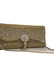economico -Donna Sacchetti PU (Poliuretano) Pochette Perle Crystal / Rhinestone per Matrimonio Serata/evento Formale Primavera Estate Autunno Oro