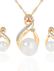 economico -Per donna Set di gioielli Collana / orecchini I monili nuziali Perle finte Strass Lusso Pendente Cerchio Perle finte Di tendenza Nuziale
