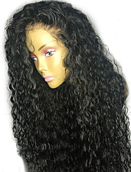 cheap -Women Human Hair Lace Wig Brazilian Human Hair 130% Density With Baby Hair Curly Wig Black Short Medium Length Long Natural Hairline 100%
