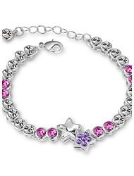 Women's Chain Bracelet Jewelry Natural Fashion Vintage Handmade Costume Jewelry Crystal Alloy Round Heart Irregular Jewelry For Wedding