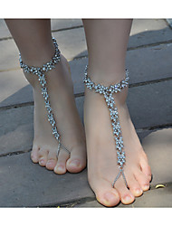 cheap -Women's Anklet/Bracelet Imitation Pearl Rhinestone Alloy Fashion Flower Jewelry For Daily Casual 1 pcs