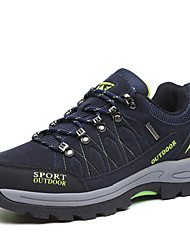 Hiking Shoes Men's Athletic Shoes Comfort  Suede Spring Fall Athletic Outdoor clothing  Flat Heel Army Green Dark Blue