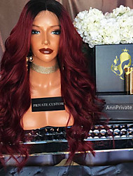 cheap -Ombre T1B/Burgundy Lace Front Wigs Human Hair Body Wave for Woman 180% Density Brazilian Virgin Hair Glueless Lace Wig with Baby Hair