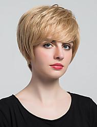 economico -Parrucche diritte e parrucche di capelli corti lisci di modo e capelli umani