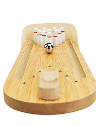 cheap -Desktop Bowling Board Game Bowling Toys Bowling Game Toys Mini Wood Novelty Pieces Children's Gift
