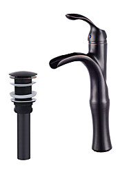 cheap -Faucet Set - Pre Rinse / Waterfall / Widespread Oil-rubbed Bronze Centerset Single Handle One Hole