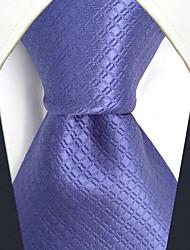 cheap -CXL6 Unique Classic Men Neckties Lavender Solid 100% Silk Business Casual Fashion Extra Long