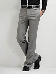 cheap -Men's Mid Rise Micro-elastic Straight Chinos Pants, Business Casual Solid Summer