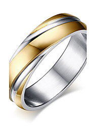 cheap -Men's Band Ring - Stainless Steel Fashion 8 / 9 / 10 Gold For Work / Office & Career