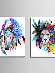 cheap -Animals Modern European Style, One Panel Canvas Vertical Print Wall Decor Home Decoration