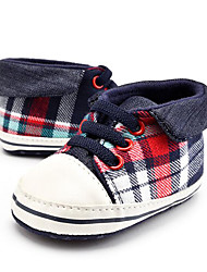 cheap -Children's Baby Shoes Canvas Winter Fall First Walkers Loafers & Slip-Ons Gore Plaid for Casual Party & Evening Dress Red/Black