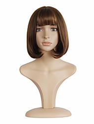 Women's Short Straight Hair and Fluffy Bobo Light Brown Synthetic Wigs