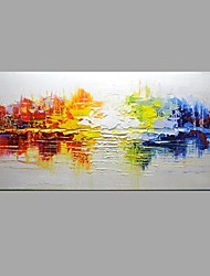 economico -Dipinta a mano Astratto Orizzontale,Modern Classico Un Pannello Tela Hang-Dipinto ad olio For Decorazioni per la casa