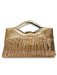 cheap -Women Bags Polyester Evening Bag Sequined for Wedding Event/Party Formal Party & Evening Club All Seasons Gold Black Silver Coffee Red