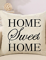cheap -1 pcs Cotton/Linen Pillow Case Pillow Cover, Pattern Traditional/Classic