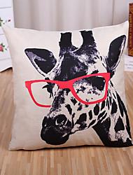 cheap -1 Pcs Classic Creative Giraffe Pattern Pillow Cover Cotton/Linen Pillow Case Home Decor