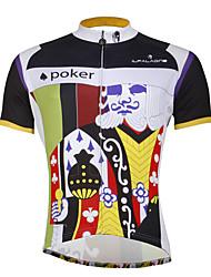 ILPALADINO Maillot de Cyclisme Homme Manches Courtes Vélo Maillot Hauts/Top Cyclisme Séchage rapide Résistant aux ultraviolets