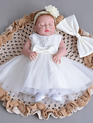 cheap -Baby Party/Cocktail Floral DressPolyester All Seasons White