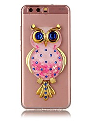 cheap -For HUAWEI Y5 Y6 II Case Cover Owl Powder Quicksand TPU Material DIY Stent Phone Case P10 P9 P8 Lite Plus (2017)