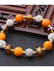 Femme Bracelets de rive Amitié Mode Bijoux Movie Bijoux de Luxe Cristal Agate Forme de Cercle Bijoux PourMariage Soirée Occasion spéciale