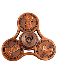 Fidget Spinner Hand Spinner Spinning Top Toys Toys Round Brass EDCFocus Toy Office Desk Toys Relieves ADD, ADHD, Anxiety, Autism Stress