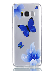 cheap -Samsung S8 S8plus S7 S7Edge S6 S5 Blue Butterfly Pattern relief Varnish does not fade TPU material phone case