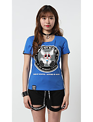 Heartsoul  Women's Going out Casual/Daily Street Athleisure Simple Active Punk & Gothic T-shirtAnimal Print Color Block Animal Round NeckShort
