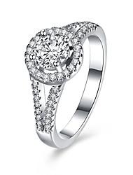 levne -Dámské Prsten Jedinečný design Obdélníkový Stříbro Zirkon Šperky Narozeniny Obchod Dar Denní Kancelář a kariéra