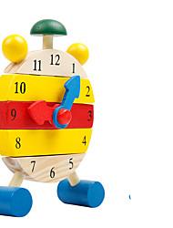 Недорогие -Деревянные часы Игрушки Круглый Образование Детские Куски