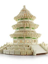 Недорогие -3D пазлы Китайская архитектура Храм Неба Дерево Универсальные Игрушки Подарок