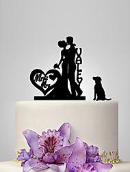 Недорогие -Украшения для торта Классика / Романтика / Свадьба Классическая пара пластик Свадьба с 1 pcs Полиэтиленовый пакет