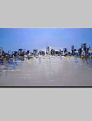 Hand-Painted Knife City Oil Painting On Canvas Modern Abstract Wall Art Picture For Home Decoration Ready To Hang