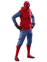 Fantasias de Cosplay Aranhas Cosplay de Filmes Vermelho Colete Calças Luvas Camiseta Munhequeira Dia Das Bruxas Feminino Masculino Criança