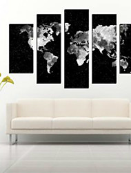 cheap -Rolled Canvas Prints Abstract Modern, Five Panels Horizontal Print Wall Decor Home Decoration