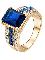 cheap -Women's Ring Fashion Euramerican Gold Plated Square Jewelry Party Birthday Daily