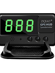 cheap -ZIQIAO Universal Car HUD GPS Speedometer Head UP Display Windshield Digital Car Speed Projector Overspeed Alarm For All Vehicle