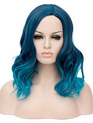 cheap -Synthetic Hair Wigs Halloween Wig Party Wig Natural Wigs Short Blue