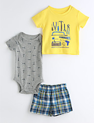 Baby Kids' Daily Geometic Clothing Set
