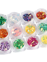 cheap -12PCS 4mm Iridescence Circular Gear Nail Art Sequins