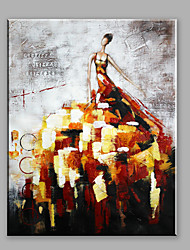 cheap -Abstract Oil Painting A Modern Woman In A Creative Dress Framed Handmade Oil Painting For Home Decoration