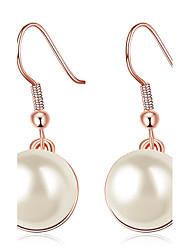 Tropfen-Ohrringe Einzigartiges Design Luxus-Schmuck Klassisch Elegant Modisch bezaubernd individualisiert Euramericanversilbert Rose Gold