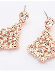 Women's Stud Earrings Drop Earrings Hoop Earrings Rhinestone Basic Unique Design Logo Style Rhinestones Geometric Friendship Movie