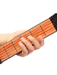cheap -Professional Guitar Trainer Tool Pocket Guitar 38 Inch 6 Strings Engineering Plastics Wood Portable for Beginner Musical Instrument