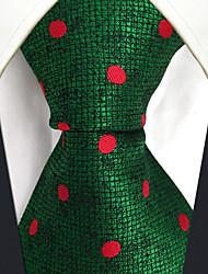 baratos -trabalho bonito do partido do vintage dos homens gravata de rayon ocasional - jacquard do bloco da cor das bolinhas, básico