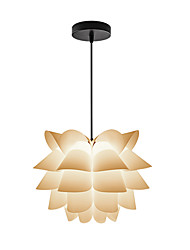 E27  D-16 DIY Kit Lotus  IQ PP Pendant Lampshade Pendant  Light  For  Living Room Bedroom Decor Lighting /Not Included Light Bulb