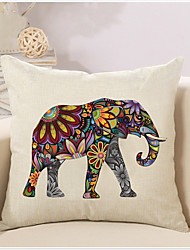 cheap -1 Pcs Bohemia Vintage Elephant Pattern Pillow Cover Creative Square Cotton/Linen Pillowcase Home Decor