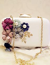 preiswerte -Damen Taschen PU Abendtasche Perlen Verzierung für Veranstaltung / Fest Party & Festivität Verabredung Ganzjährig Weiß Schwarz